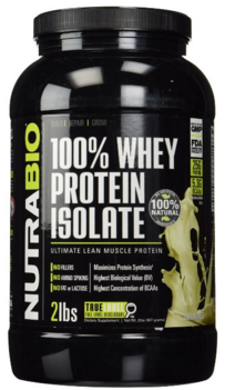 If you decide on Isolate, we recommend NutraBio 100% Whey Protein Isolate, as the purest form, free of the harmful sugar, sucralose and soy often found in other brands.