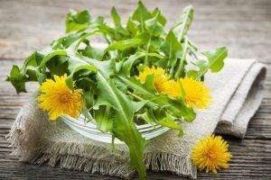 Dandelion Greens Salad With Warm Balsamic Vinaigrette